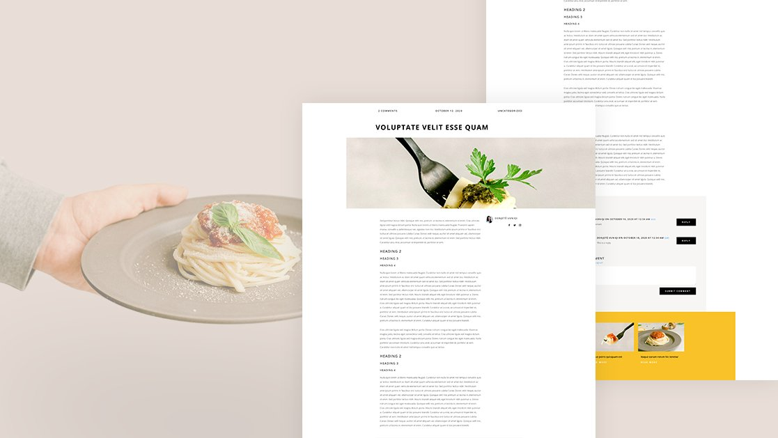 Download a FREE Blog Post Template for Divi's Italian Restaurant Layout Pack