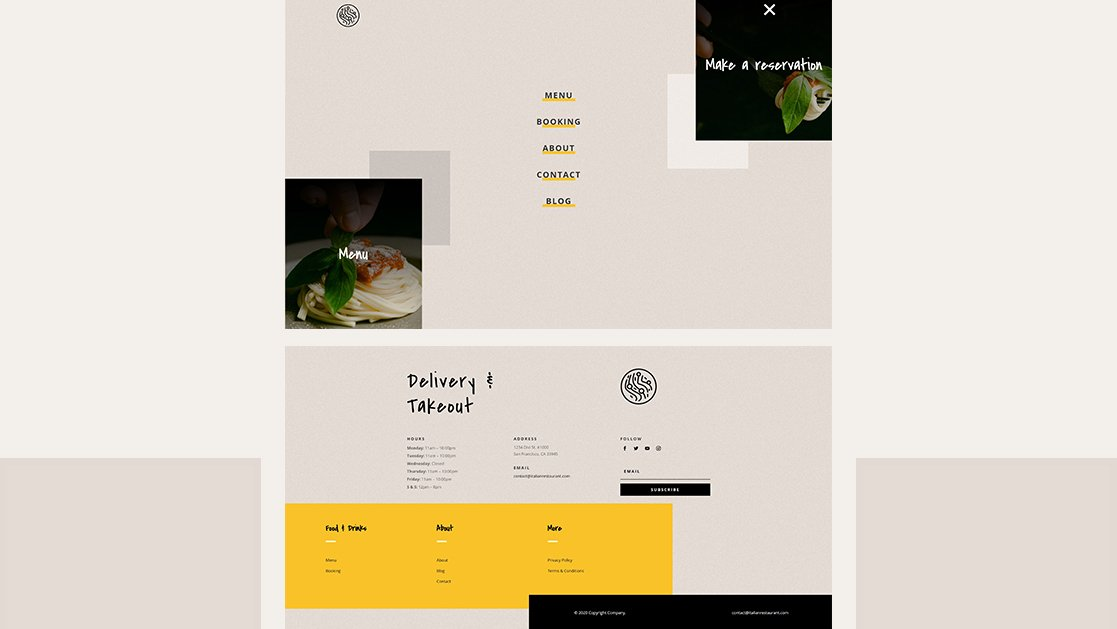 Download a FREE Header & Footer for Divi's Italian Restaurant Layout Pack