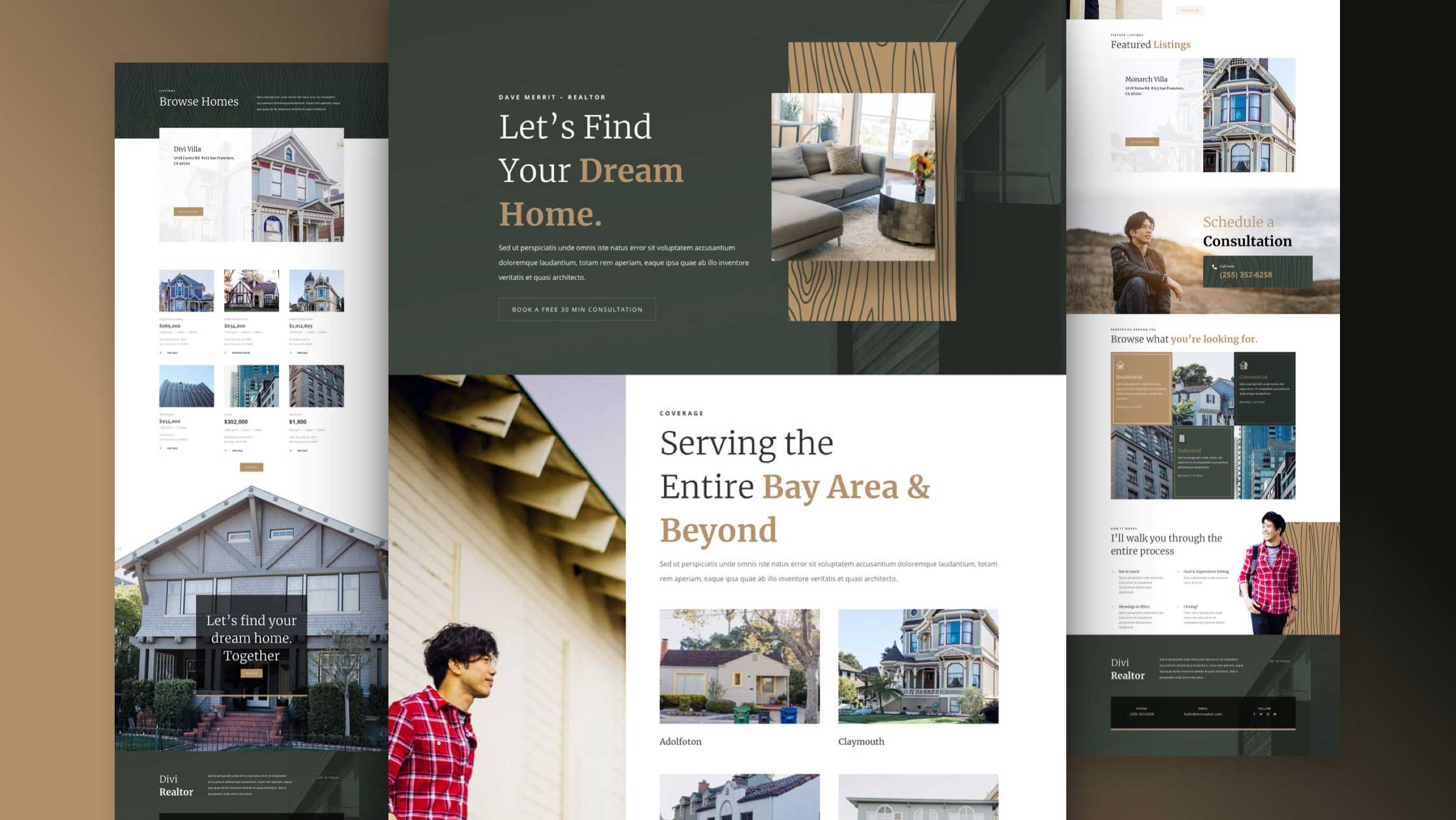 Get a FREE Realtor Layout Pack for Divi
