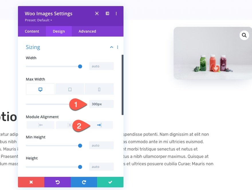 divi sticky product images template
