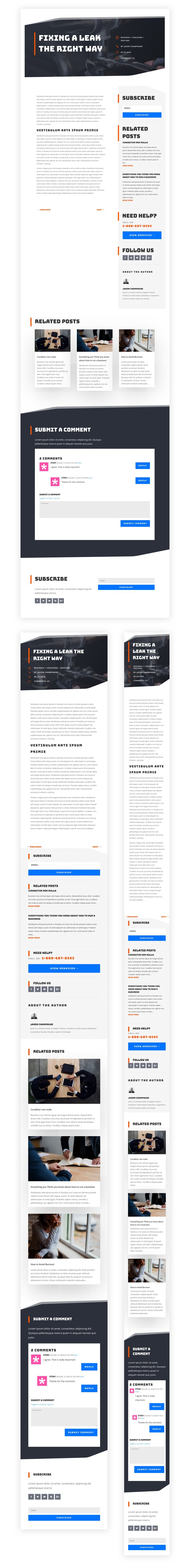 blog post template for Divi's Handyman Layout Pack