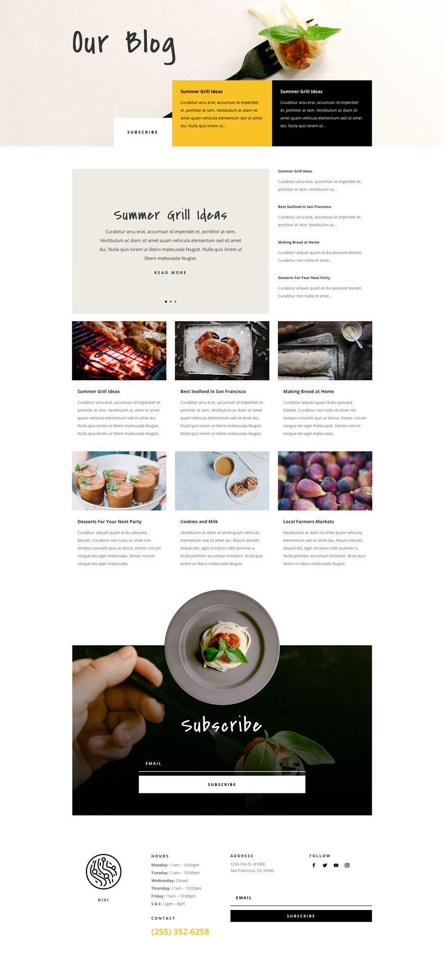 Italian restaurant website