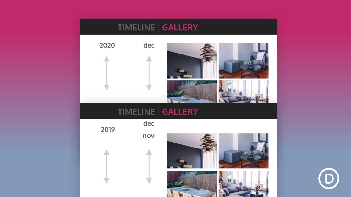 How to Create a Vertical Sticky Timeline Layout in Divi