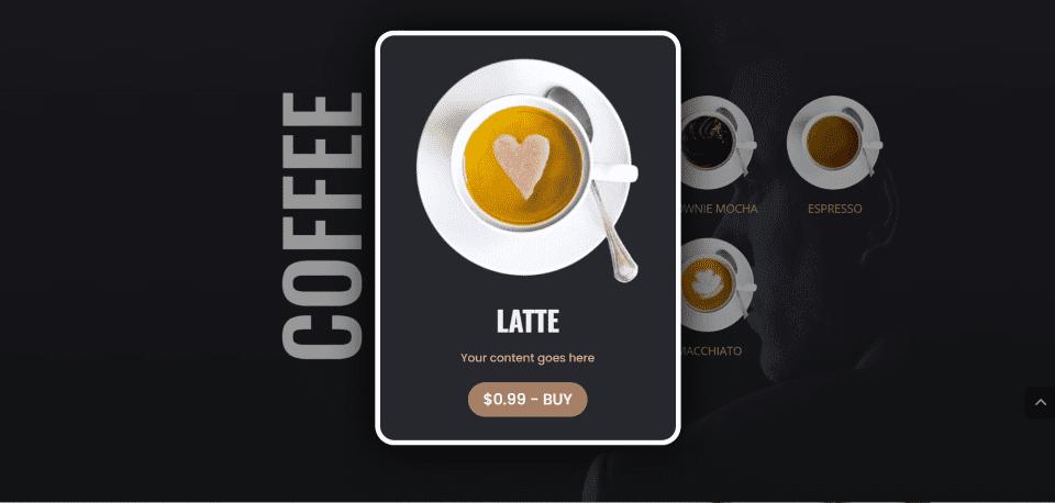 DiviMenus Coffee Layout