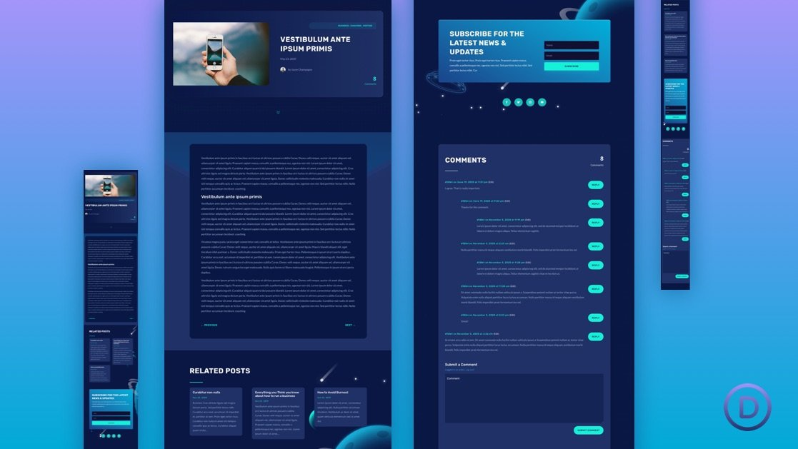 Get a FREE Blog Post Template for Divi's Video Game Layout Pack