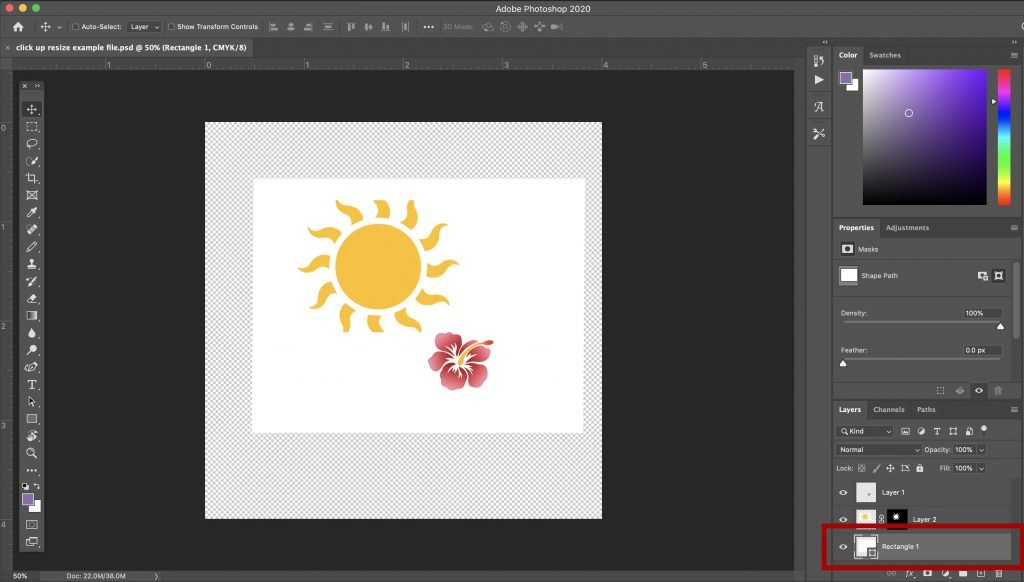 how to resize an object in photoshop