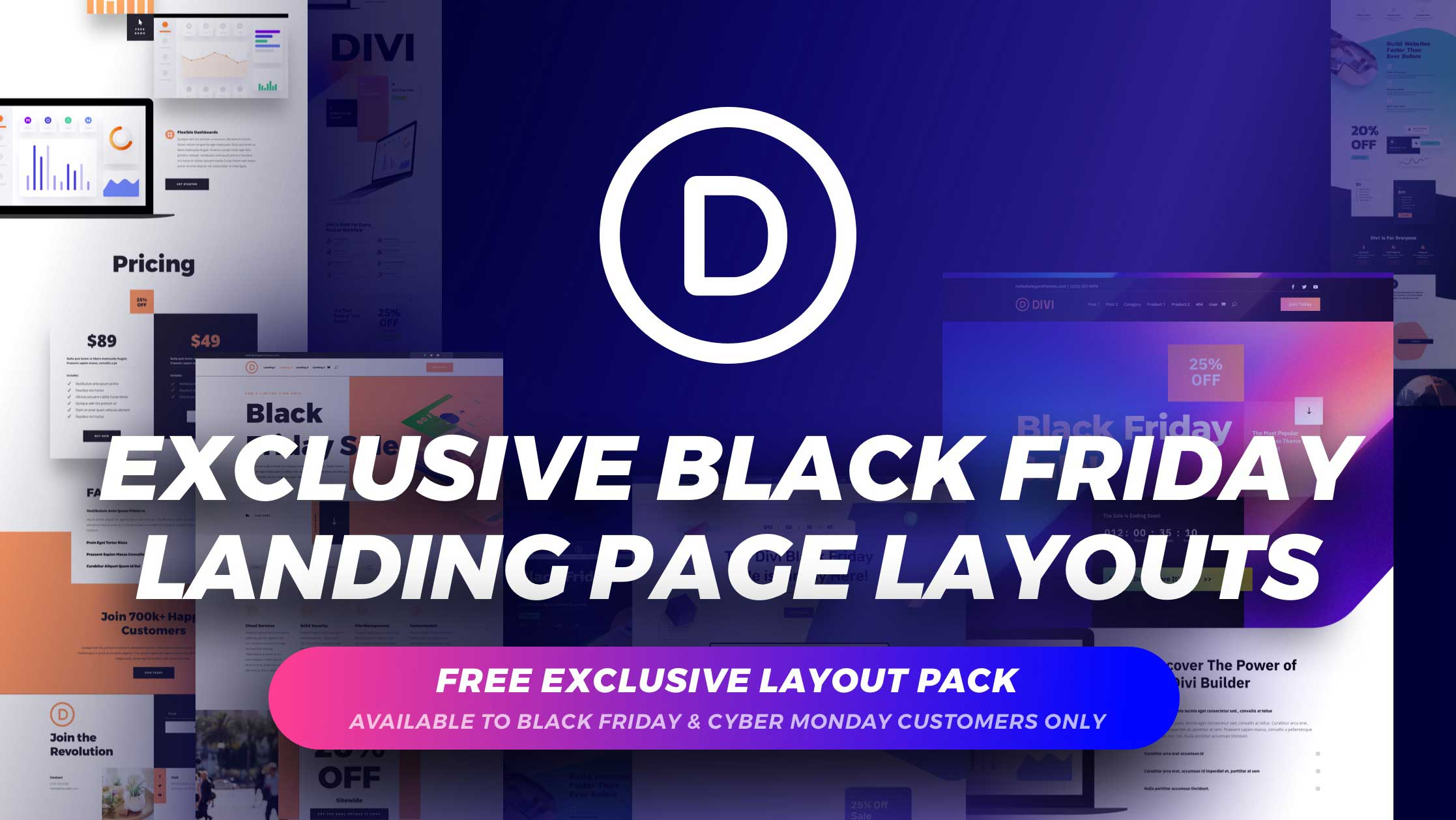 Get the Exclusive FREE Black Friday Landing Page Layout Pack