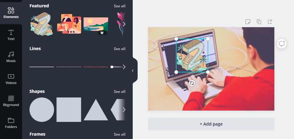 Adding custom elements to Canva