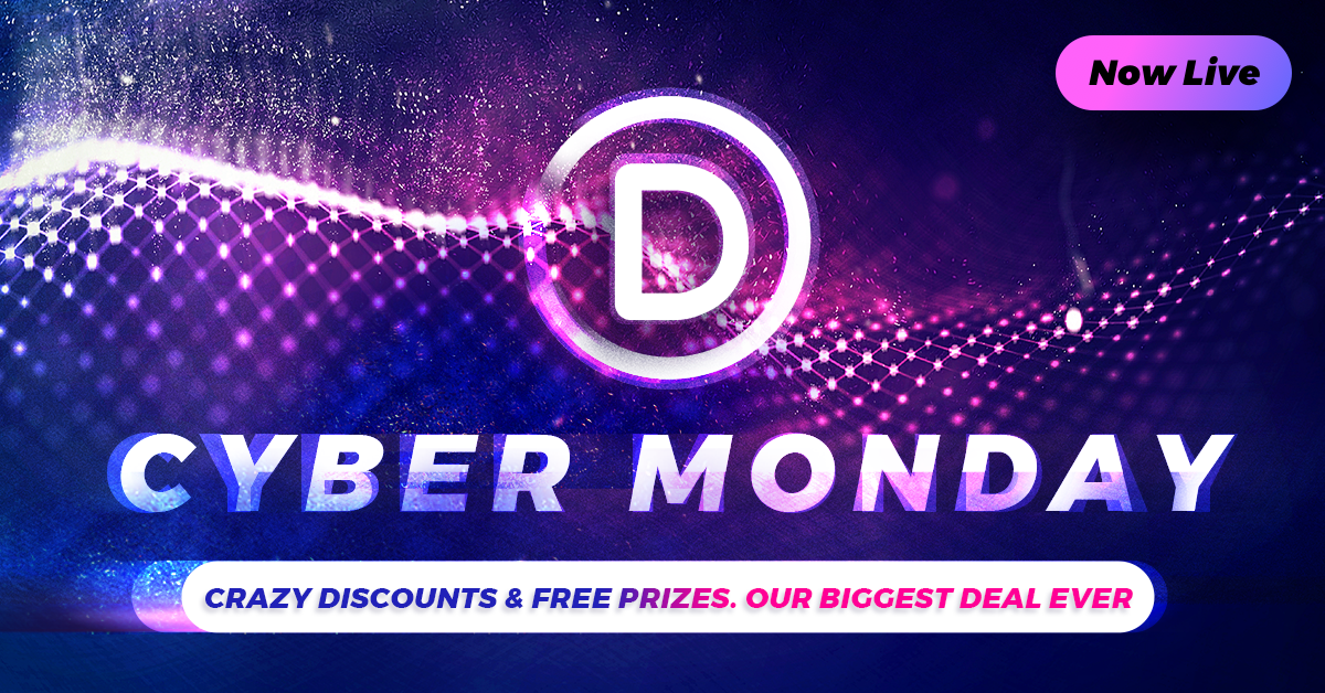 The Divi Cyber Monday Sale Starts Now!