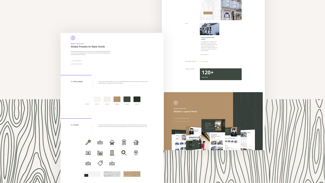 Download a FREE Global Presets Style Guide for Divi's Realtor Layout Pack