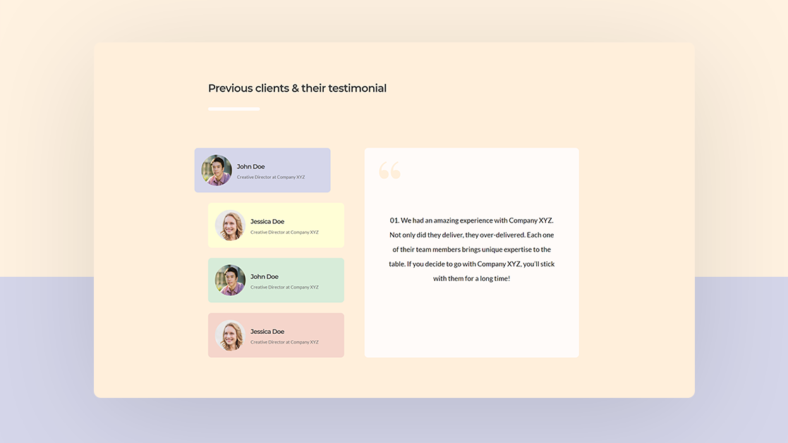 How to Create Custom Testimonial Tabs with Divi (FREE Download!)