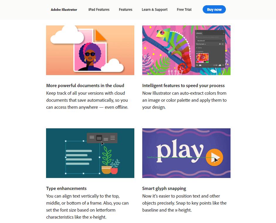 Adobe Illustrator's page