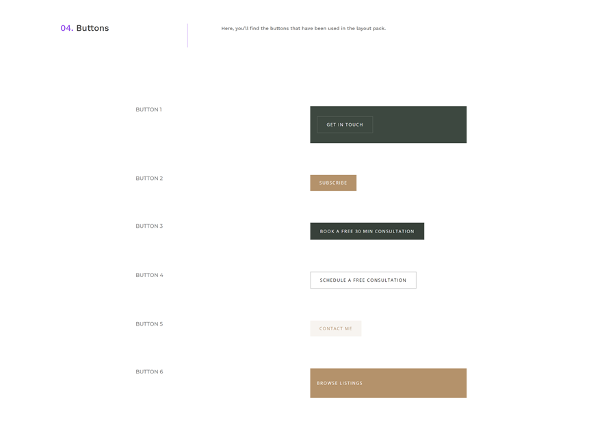 realtor global presets style guide