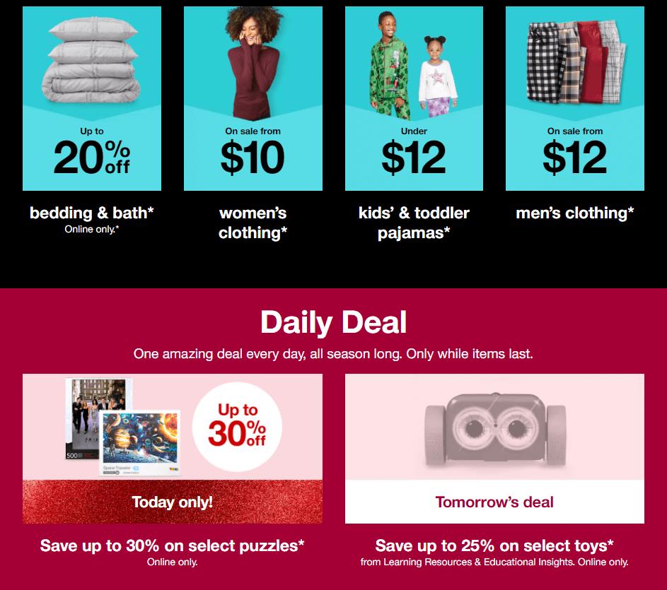 Target's homepage