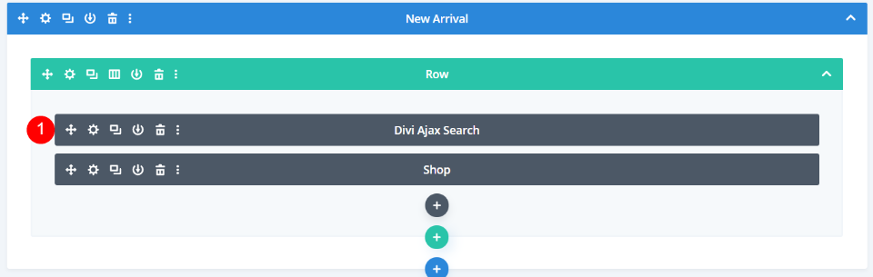 Add Divi Ajax Search to the Layout