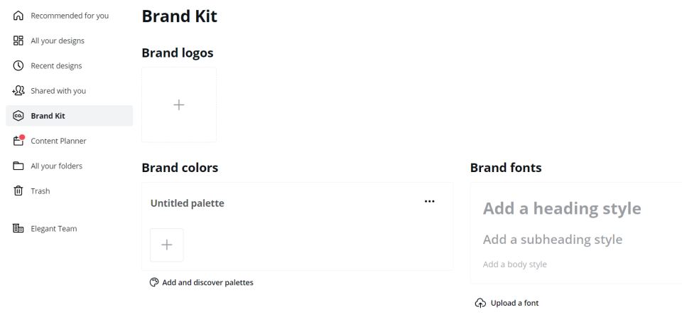 Brand Kit Features