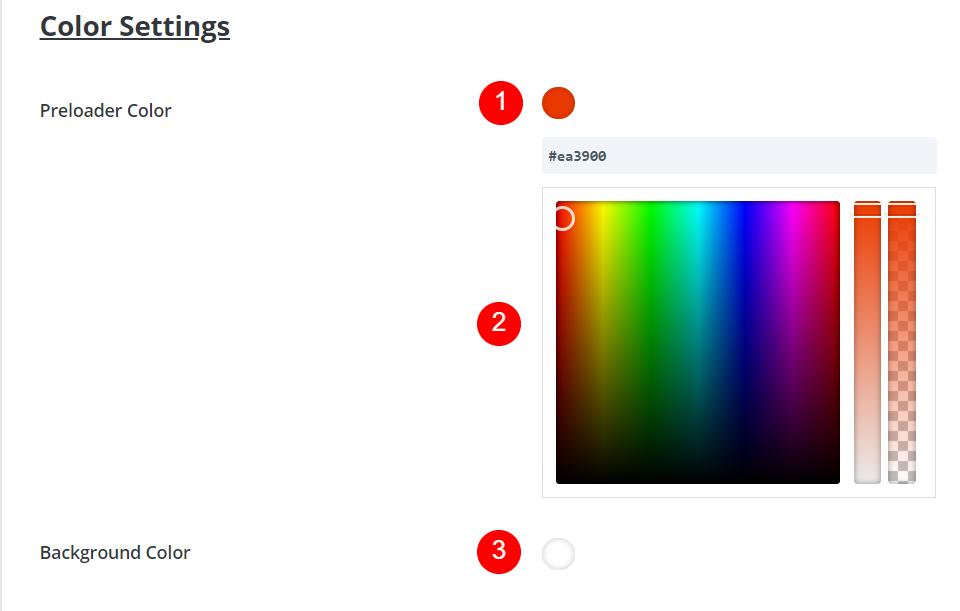 DP Preloader Color Settings