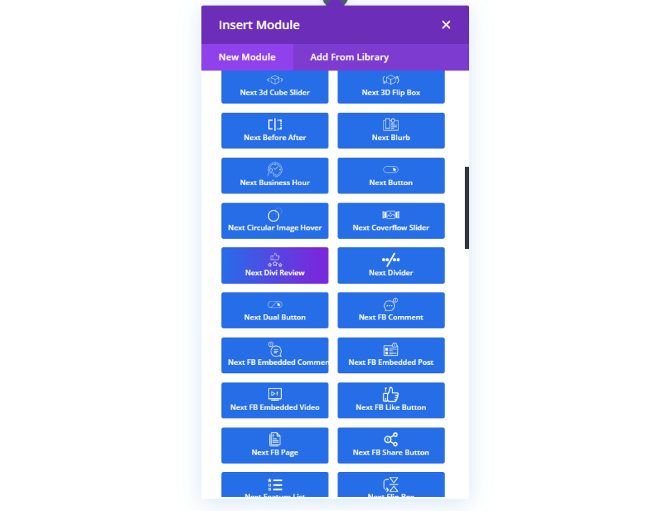 Divi Essential Modules