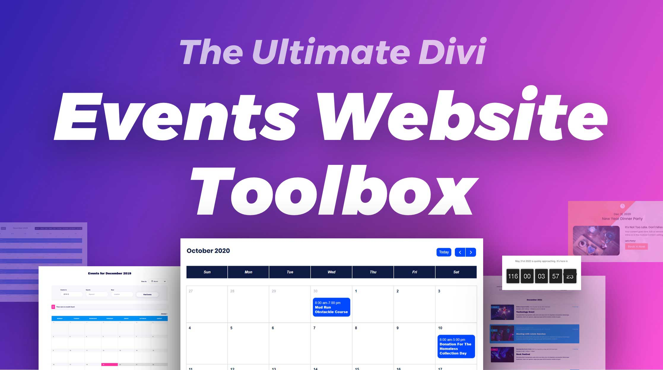 """How to Build the Ultimate """"Events Website Toolbox"""" with the Divi Marketplace"""