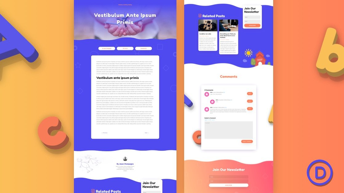 Get a FREE Blog Post Template for Divi's Daycare Layout Pack