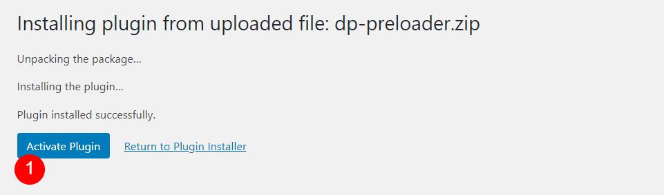 Install DP Preloader
