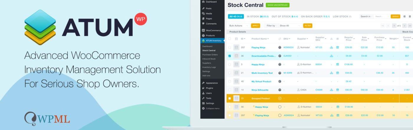 The ATUM Inventory Management plugin for WooCommerce.