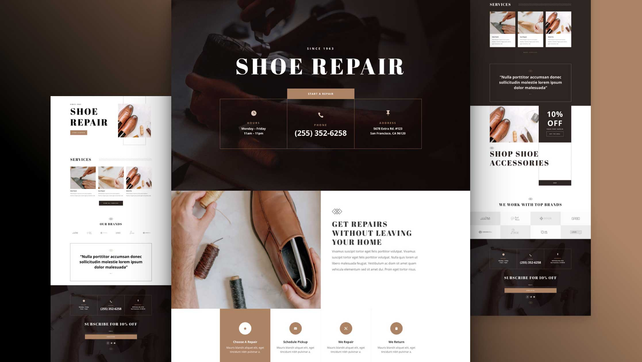 Get a FREE Shoe Repair Layout Pack for Divi