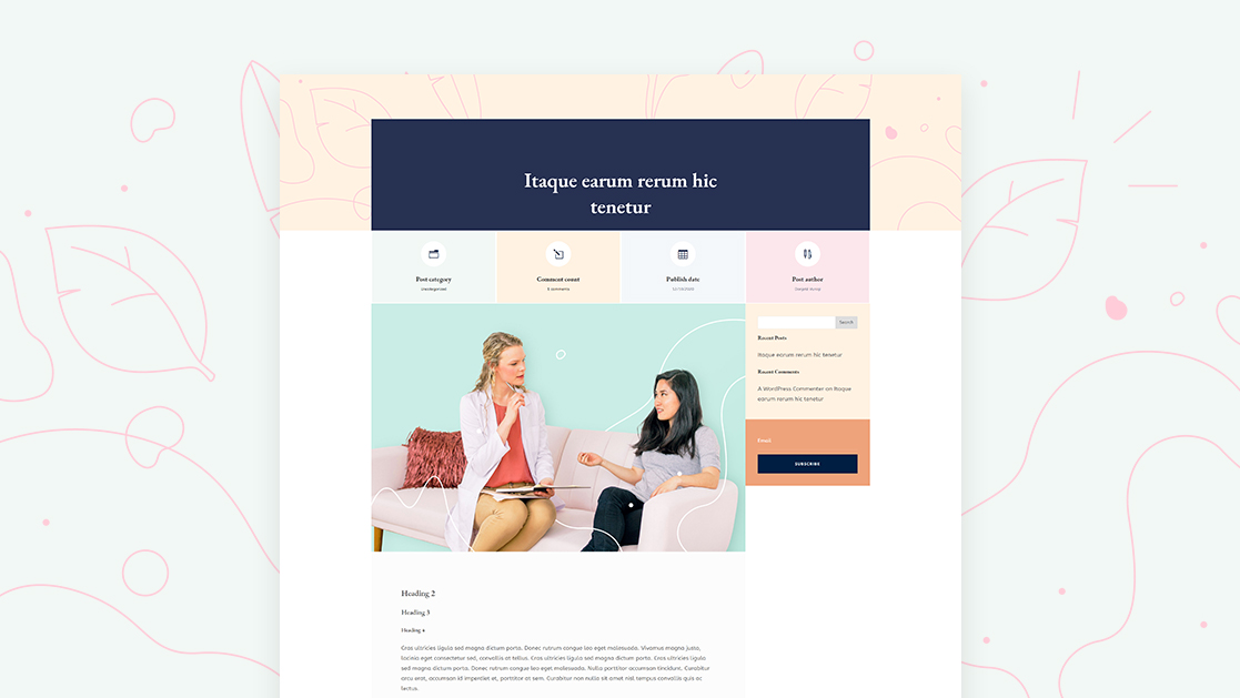 Download a FREE Blog Post Template for Divi's Women's Health Center Layout Pack