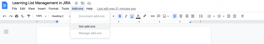 add-on tool in google docs