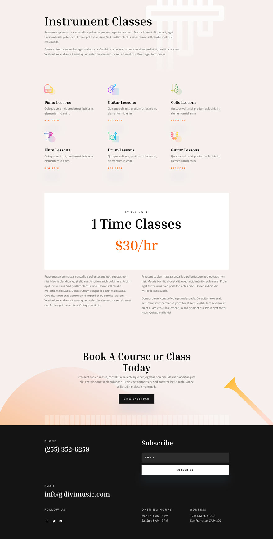 divi music teacher layout pack