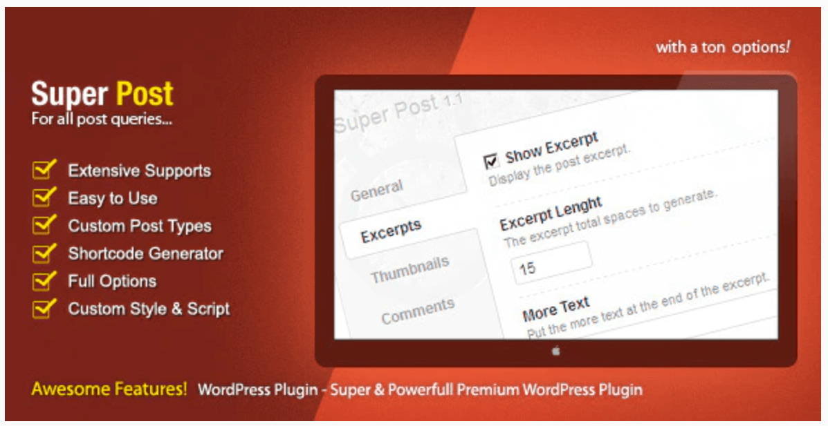 The Super Post popular posts plugin.