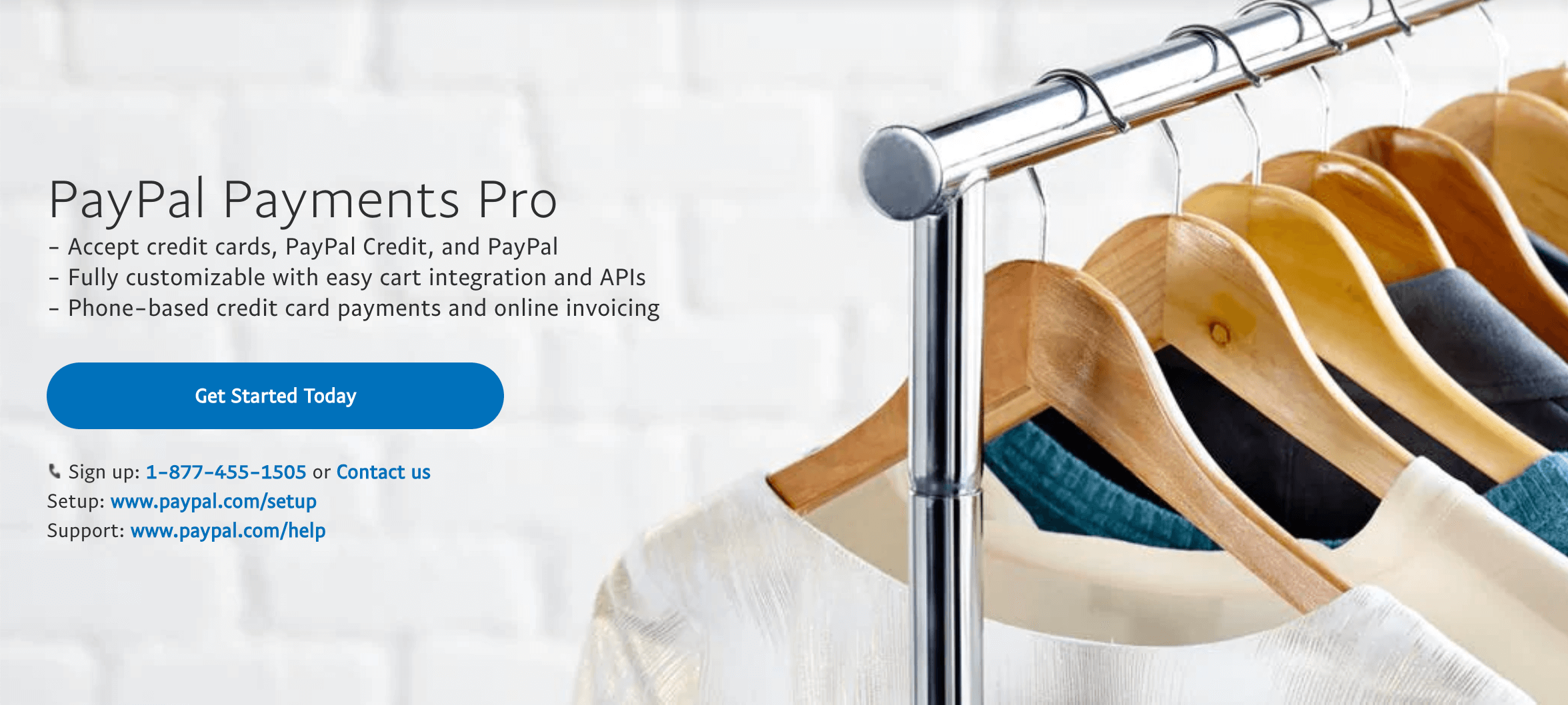 The PayPal Pro webpage.
