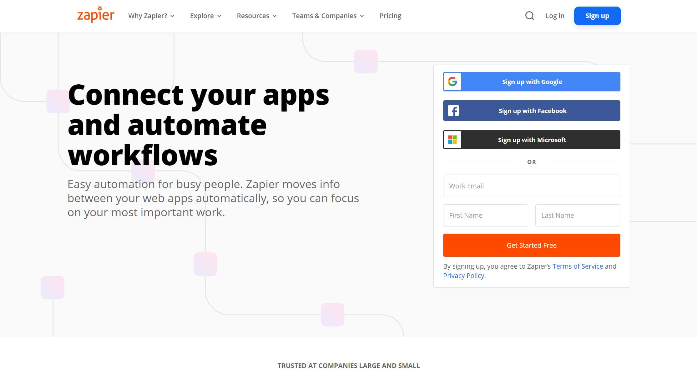 The Zapier service for connecting online apps.