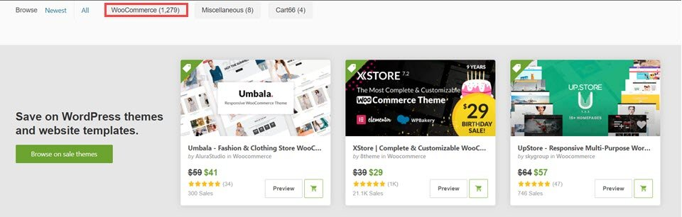 themeforest woocommerce