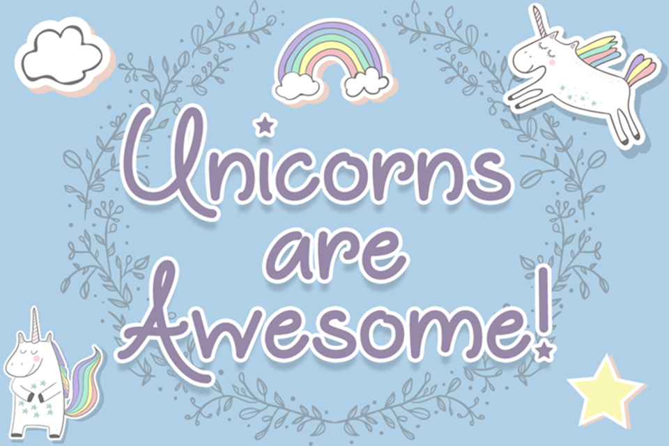 fantasy fonts unicorns are awesome