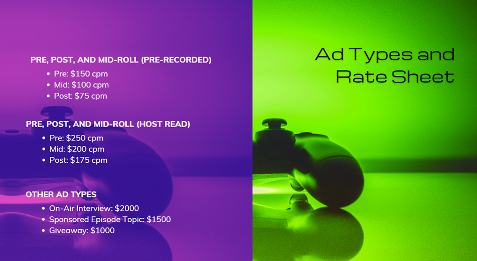 advertising media kit ad types and rate sheet