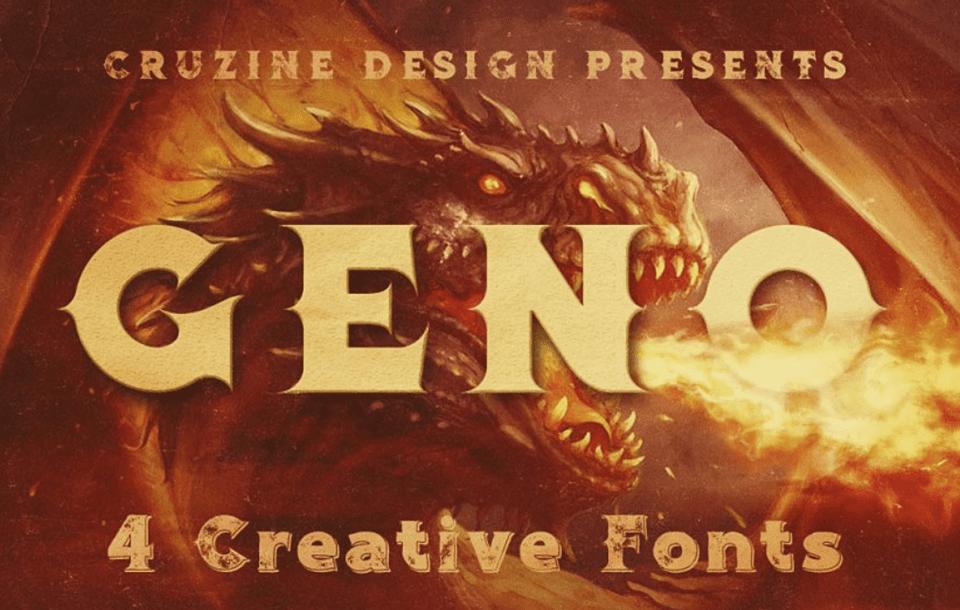 fantasy font geno