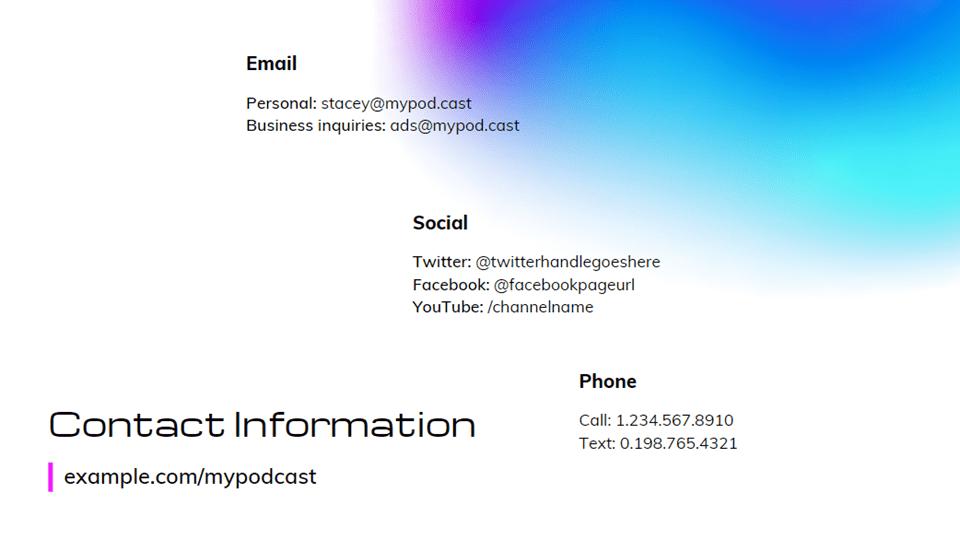 advertising media kit contact
