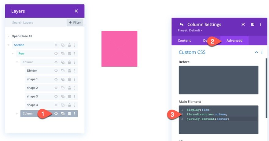 animate css shapes in divi
