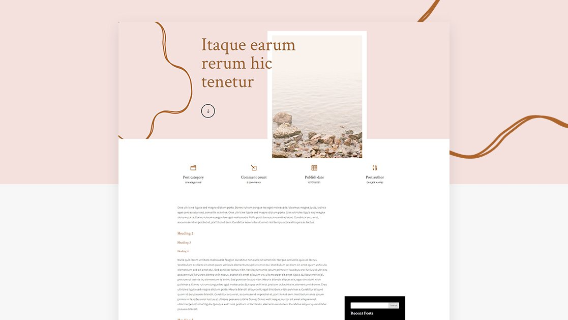 Download a FREE Blog Post Template for Divi's Meditation Center Layout Pack