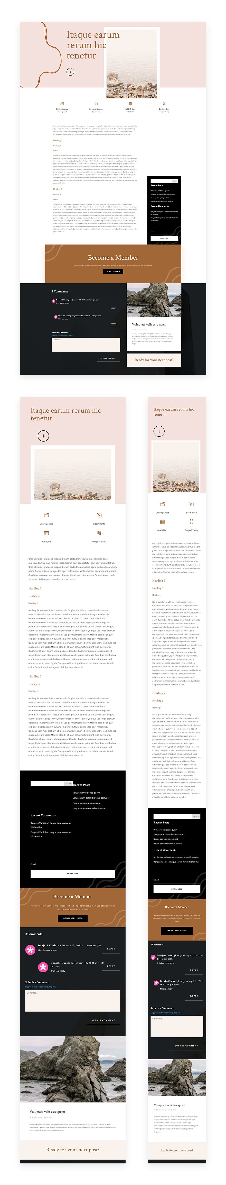 Download A Free Blog Post Template For Divi S Meditation Center Layout Pack Elegant Themes Blog