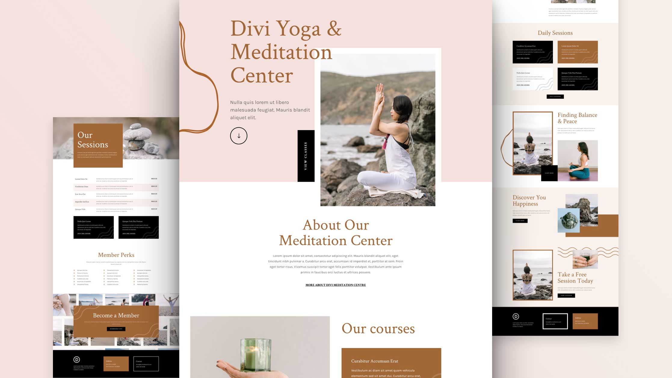 Get a FREE Meditation Center Layout Pack for Divi