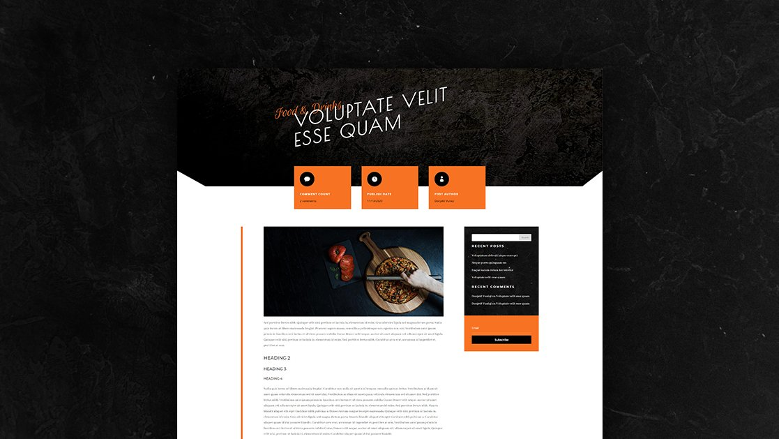 Download a FREE Blog Post Template for Divi's Pizzeria Layout Pack