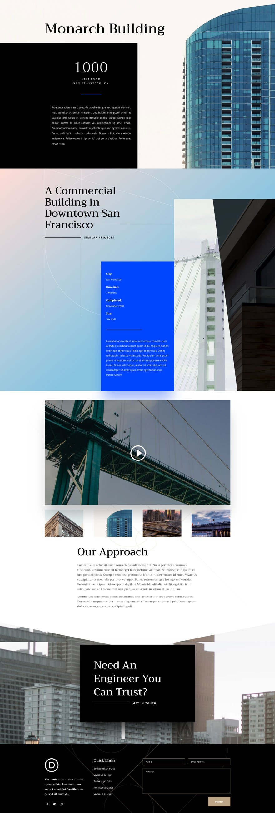 divi engineering firm layout pack