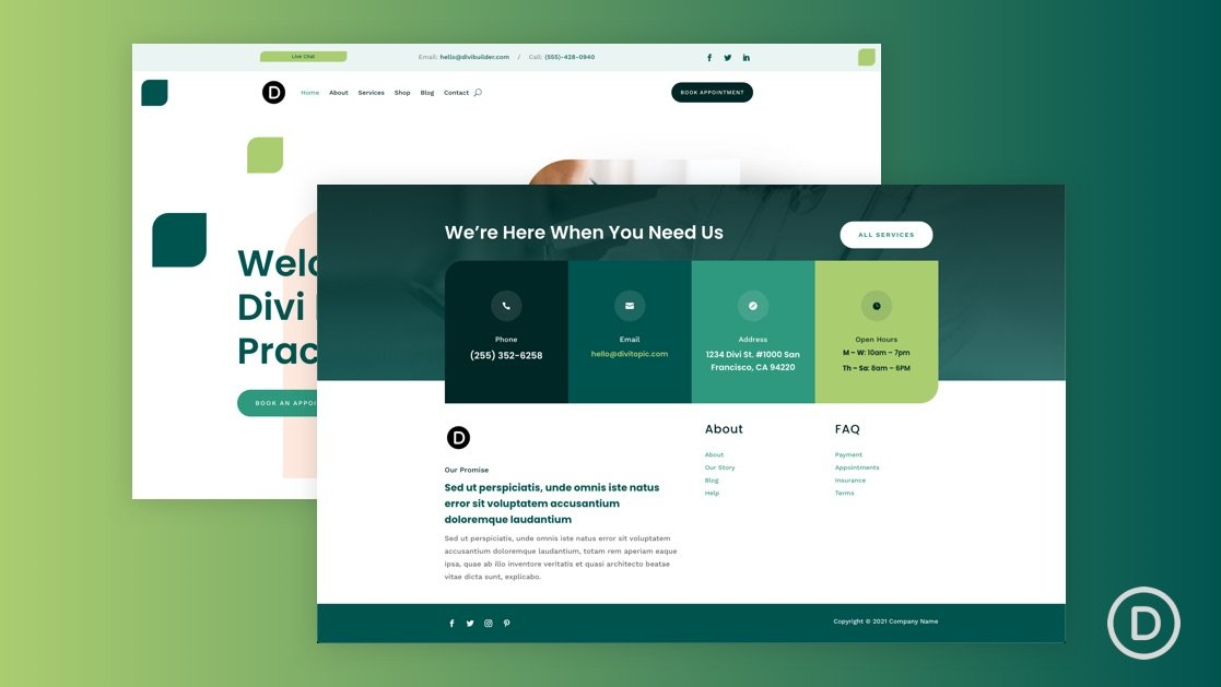 Download a FREE Header and Footer for Divi's Family Doctor Layout Pack