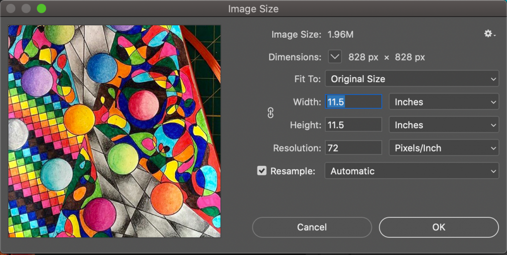 reducing file size in photoshop