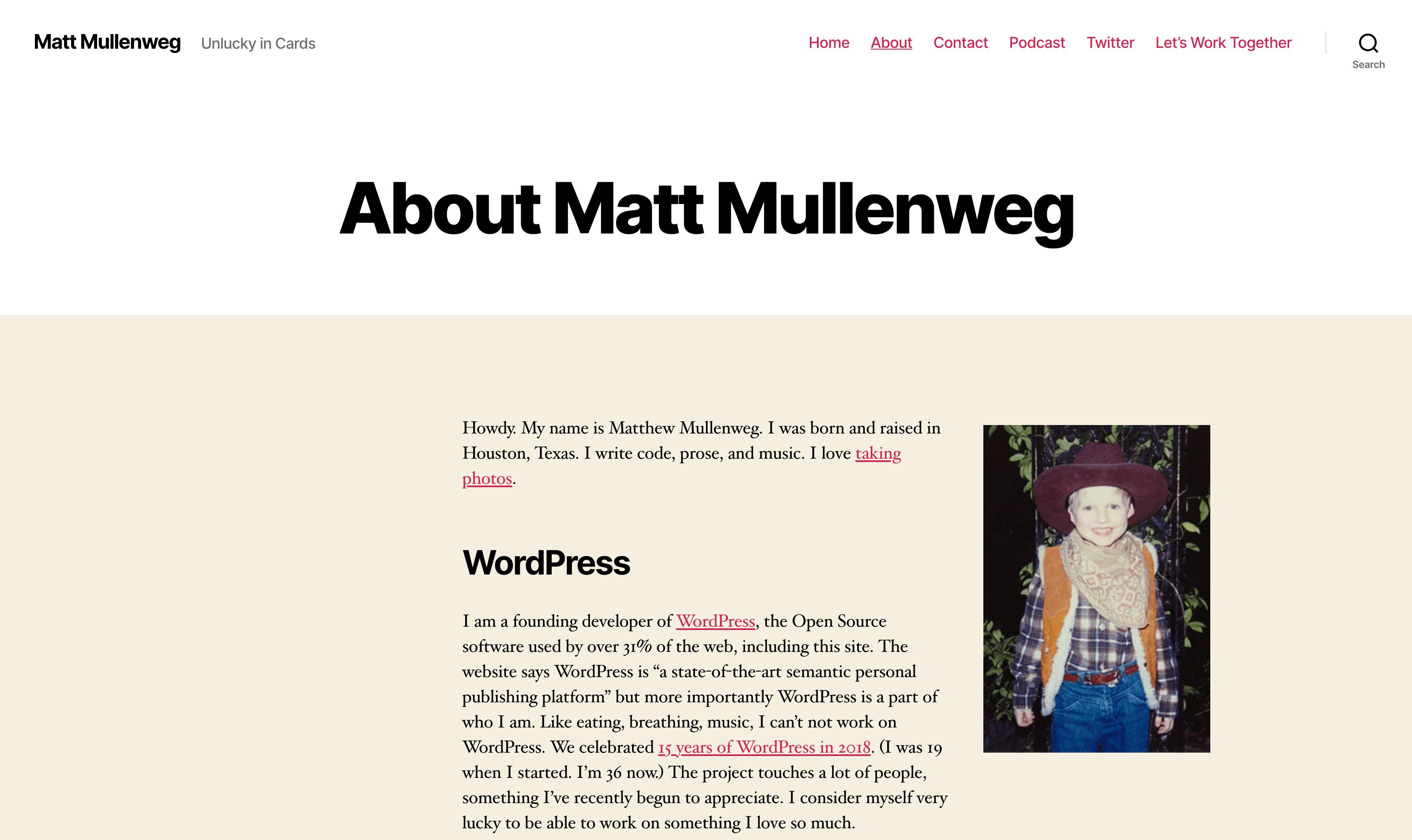 The Ma.tt website.