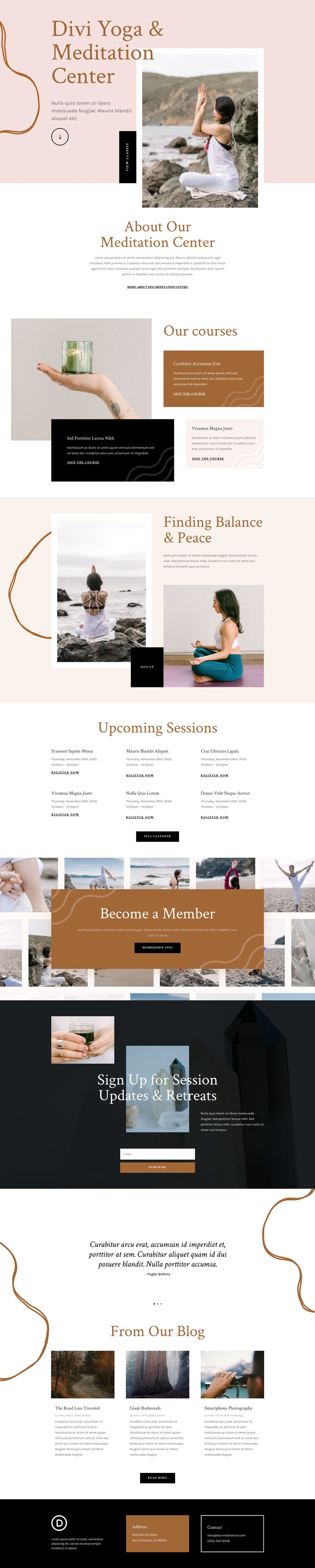 meditation center website