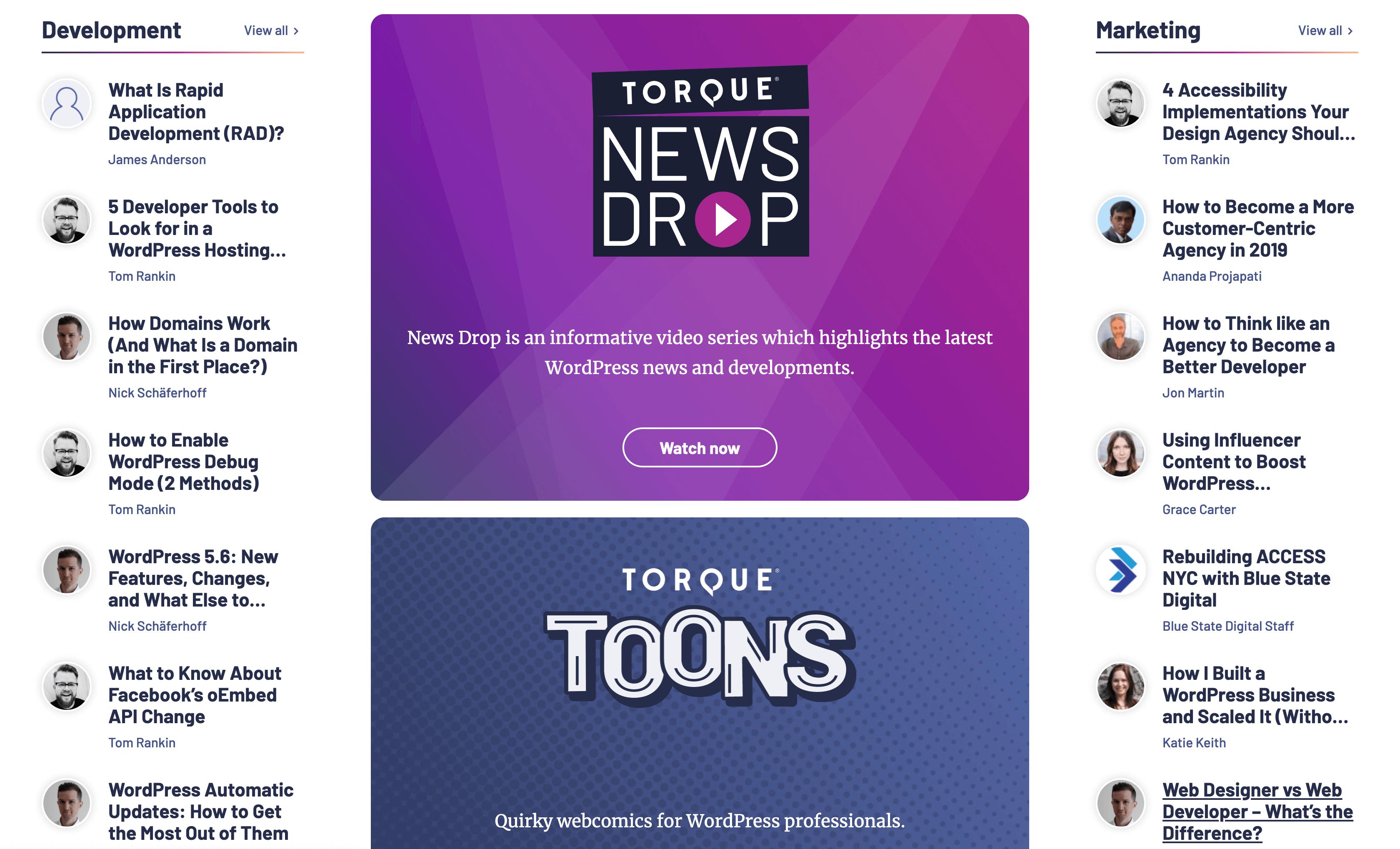 The Torque website.