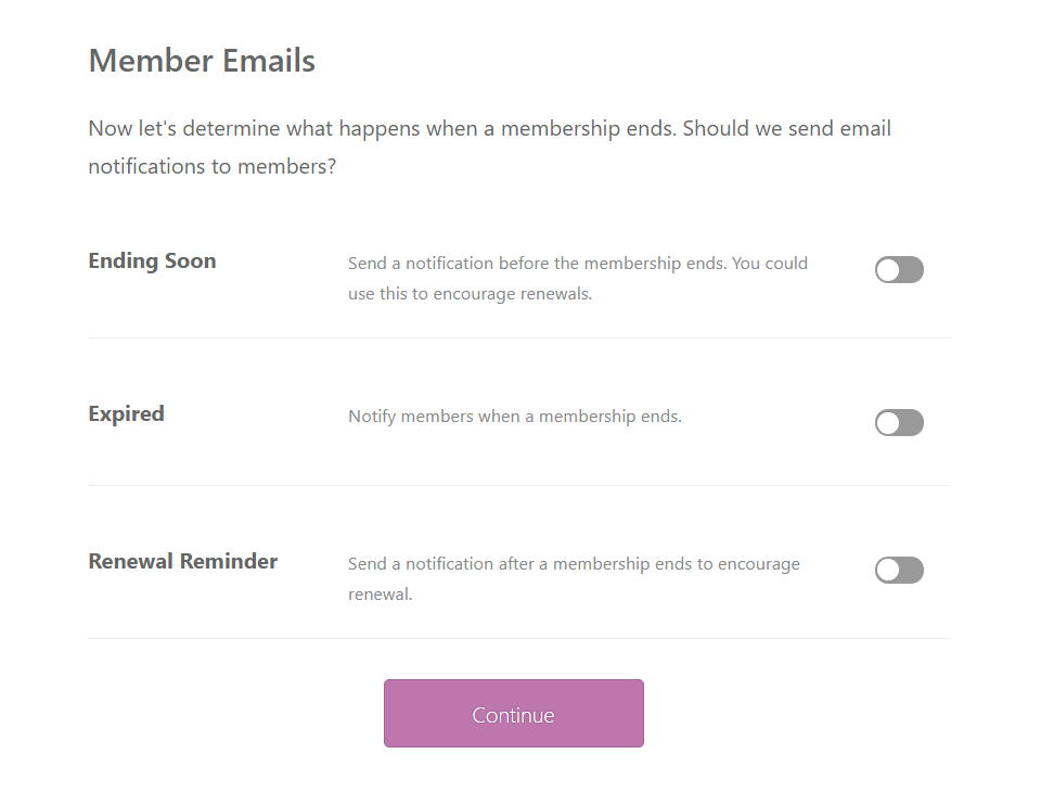 membership emails